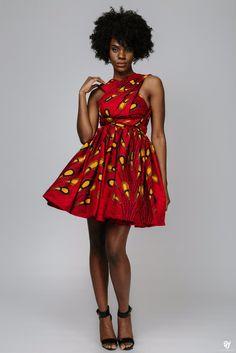 Ankara mini INFINITY dress