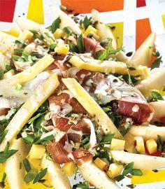 São Jorge Cheese - Peer Salad, Ham (presunto) and Cheese - Salada de Pera, presunto serrano e queijo de S.Jorge