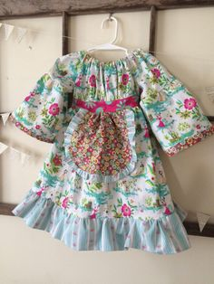 A personal favorite from my Etsy shop https://www.etsy.com/listing/267618558/boutique-woodland-peasant-dress-18-24