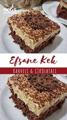 Kahveli Çikolatalı Kek - Nefis Yemek Tarifleri - - Coffee Chocolate Cake - Yummy Recipes - - the the Delicious Cake Recipes, Homemade Cake Recipes, Yummy Cakes, Yummy Food, Pie Recipes, Cake Fillings, Cake Flavors, Gula, Food Cakes