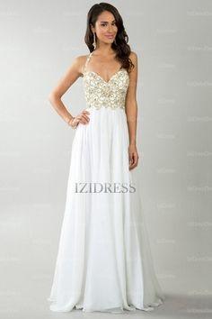 A-Line/Princess Sweetheart Spaghetti Straps Halter Chiffon Floor-length Prom Dress - IZIDRESSES.com at IZIDRESSES.com