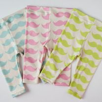 Mustaches In A Row Leggings -spring line