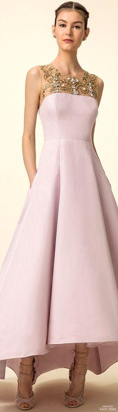 Modern Fairytale: Marchesa Notte Spring 2016 RTW Blush pink Gown