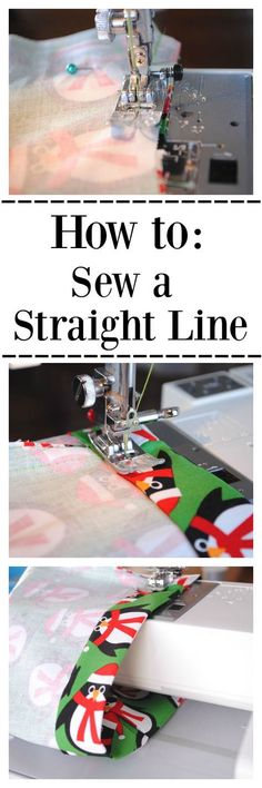 Learn to Sew Series Lesson #1: How to Sew a Straight Line