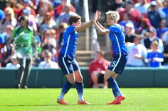 Meghan Klingenberg and Megan Rapione vs. New Zealand, April 4, 2015. (U.S. Soccer)