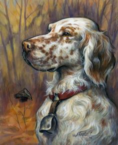 English Setter Painting by Alice Taylor - English Setter Fine Art Prints and Posters for Sale