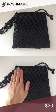 Black sequin bag Sequin bag small Vintage Bags Mini Bags