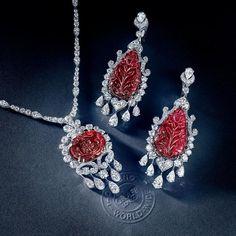 """Passion for carved rubies with @graffdiamonds ❤️ #hernameismargo #margoraffaelli"""