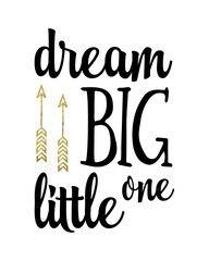 Girls Nursery Printable Wall Art | These Bare Walls | Dream Big Little One | Arrow Print | Nursery Decor | Nursery Print