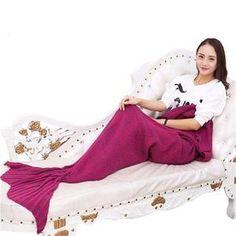 Mermaid Throw Blanket Handmade Mermaid Tail Blanket for Adult Kid Multi Colors 3 Size Soft Crochet Mermaid Blanket Crochet Mermaid Blanket, Mermaid Tail Blanket, Rave Wear, Knitted Blankets, Handmade, Kid, Women, Colors, Royalty