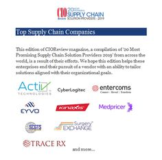 Top Supply Chain Companies - Technology Blog 1 - Medium Supply Chain Solutions, Consulting Firms, Cloud Based, Technology, Medium, Blog, Tech, Tecnologia, Blogging