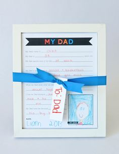 Free Fathers Day Printable Questionnaire for Dads and Grandpas! #fathersday