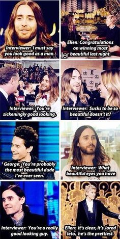 Literally what we're all thinking but won't say.------>Proof that Jared is the perfect and the most beautiful man!