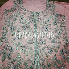 Zardozi handcrafted embroidery on the shirt.  Order your customised Gharara.  #Gharara #ghararastudio #ghararadesign #ghararadesigner #ghararastyle #ghararafashion #ghararagirl #partygharara #weddinggharara #instastyle #instafashion #instapic #royal #lookgorgeous #silk #kimkhaab #brocade #handwork #handcraft #embroidery #zari #dabka #zardozi #kundan #crystanstone #orderonline #ghararastudiobyshazia