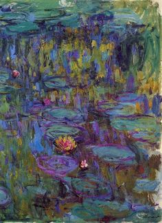 Claude Monet 1914-17 Water Lilies oil on canvas