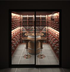 VintageKeeping Wine Cellar Modern, Glass Wine Cellar, Home Wine Cellars, Wine Cellar Design, Wine Box Shelves, Caves, Wine Cellar Basement, Diy Garden Fountains, Wine Cabinets