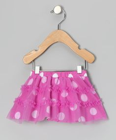 Take a look at this Purple Polka Dot Ruffle Skirt by Baby Starters on #zulily today!