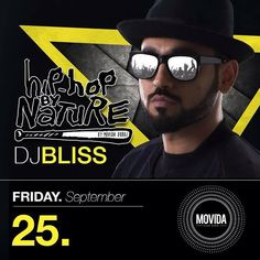 Sept 25:  Time for some wild Hiphopery featuring our own DJ Bliss @movidadubai #HipHopByNature  For reservations & more info: 971 551 744 449!  #Movida #MovidaDubai #DubaiNightlife#MyDubai #UAE