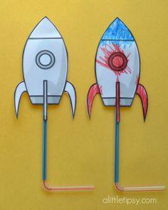 DIY Straw rockets