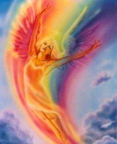 Angel in a rainbow