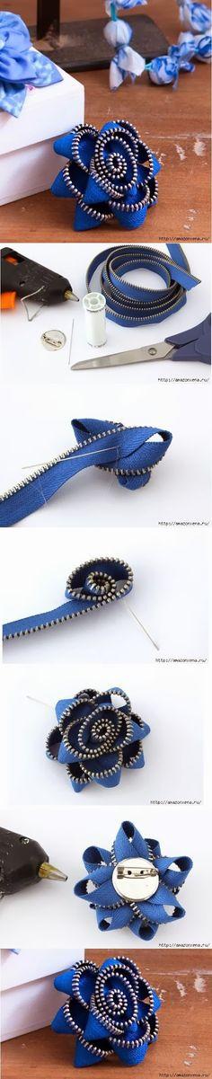 DIY : Nice Zipper Flower | DIY & Crafts Tutorials