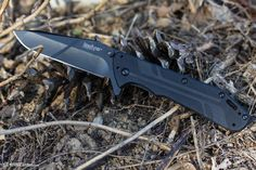Kershaw Thermite designed by Rick Hinderer now available at an amazing price! http://www2.knifecenter.com/item/KS3880BLK/kershaw-3880blk-thermite-assisted-black-plain-blade-g10-and-steel-handles