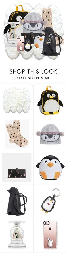 """Penguins"" by abatevintage ❤ liked on Polyvore featuring interior, interiors, interior design, home, home decor, interior decorating, Rockland Luggage, J.Crew, Accessorize and Coach"