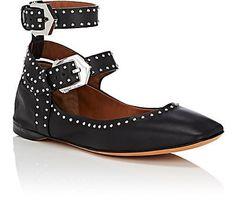 Givenchy Elegant Line Studded Suede Flats | Barneys New York
