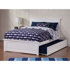 Atlantic Nantucket Bed with Matching Foot Board with Urban Trundle Bed in