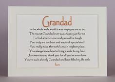 Check out this item in my Etsy shop https://www.etsy.com/uk/listing/255756928/grandparent-gift-nan-grandad-granny-pops