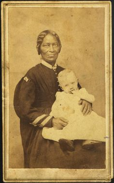 1860's CDV African American Slave Nanny Holding White Baby