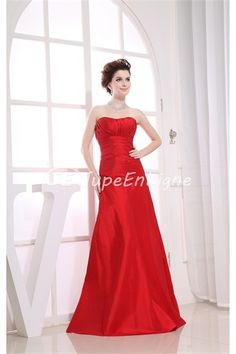 A-Line Floor-Length Sleeveless Taffeta Bridesmaid Dress http://www.lovestbridal.com/A-Line-Floor-Length-Sleeveless-Taffeta-Bridesmaid-Dress-p19407.html