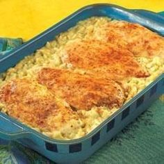 Dinner couldn't be easier than this savory chicken and rice casserole. The ingredients mix up in 5 minutes, leaving your hands free for other projects while dinner bakes.