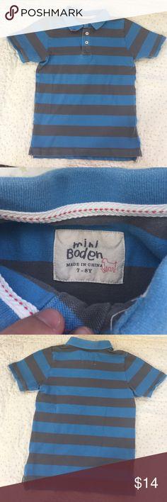 """Mini Boden Pique Polo Size 7/8. No flaws besides """"Boden Fade""""! Mini Boden Shirts & Tops Polos"""