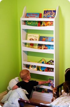 Pottery barn kids wall book rack