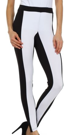 Sakkas Contrast Stripe Fashion Leggings