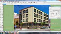 Tarea con SketchUp Multi Story Building, Street View, World, Youtube, Html, Watch, Blog, Videos, House Chores