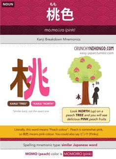 Crunchy Nihongo : 桃色