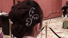 #original #hair design by JazzTina -- perfect for #ballroom #dance #competitions #performances #weddings #special_occasions