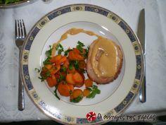 Χοιρινό Ρολό με καραμελωμένα καρότα #sintagespareas