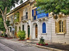 beautiful colors on a quaint street. Malta.