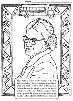 FREE Black History Coloring Pages w Biographies Activities 71