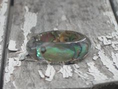 Size 6.5 Abalone Puau Shell Faceted Band Resin by MonkeyNavigated, $12.00