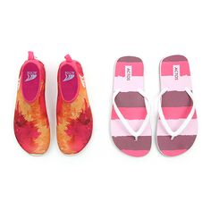 Get the Best of Both for Summer! Aqua Shoes and Flip Flops...