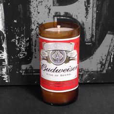 Budweiser Beer Bottle Candle by 99BottlesofBeerStore on Etsy, $14.00