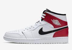 ee23c58844e8 Jordan 1 Mid White Red Black 554724-116 Info