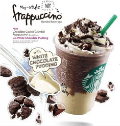 While Starbucks is fairly uniform with what they offer drink-wise in countries across the world, the Japanese with their love of limited-time promotions get some drinks that may never see the light of day in other countries and have certainly never been offered here in the U.S. Additionally, there was the Chocolate Cookie Crumble Frappuccino with White Chocolate Pudding.