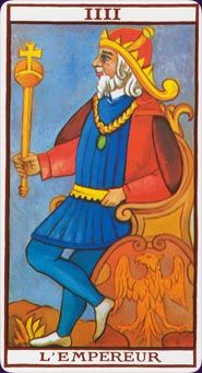 The Emperor from the Marseilles Tarot