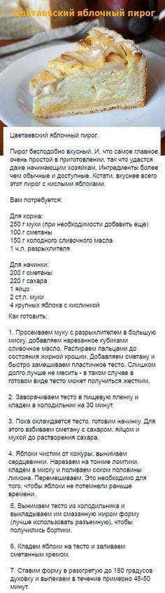 (1111) Pinterest // ЗИНАИДА ИВАНОВНА Russian Desserts, Russian Recipes, Baking Recipes, Dessert Recipes, Good Food, Yummy Food, Sweet Pastries, Saveur, Snacks
