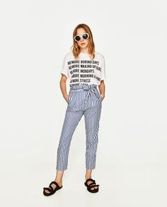 ZARA - COLLECTION AW/17 - STRIPED TROUSERS